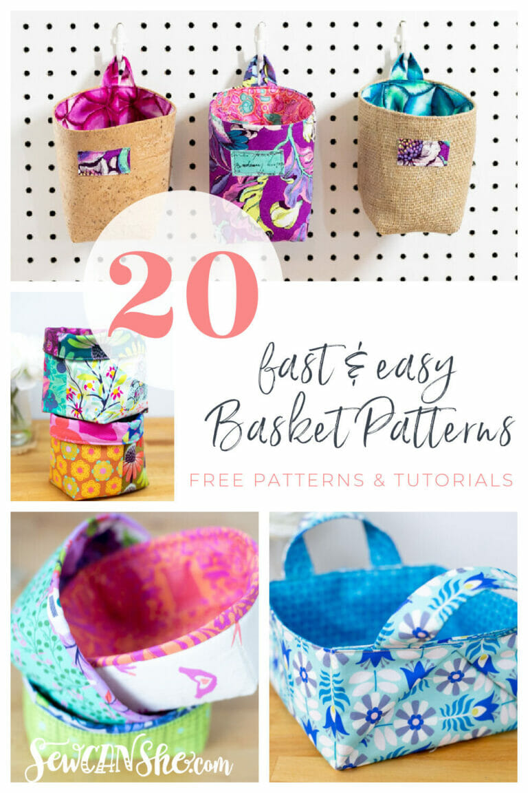 20 Free Basket Patterns that are Fast and Easy! (sewing for days)