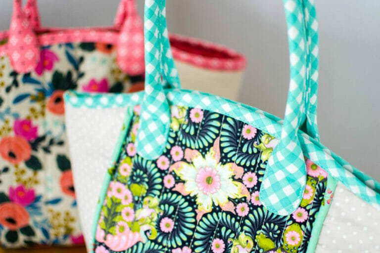 How to Sew a Fabric Basket Tote {free sewing pattern}