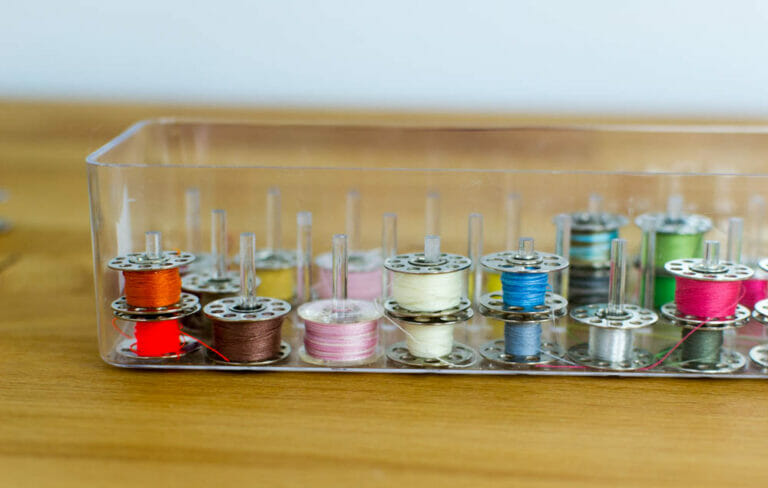 How to Store Your Sewing Machine Bobbins! (Free DIY Tips)