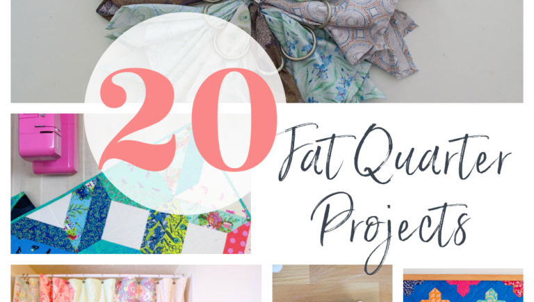 20 Easy Fat Quarter Bundle Sewing Projects to Sew! (all free)