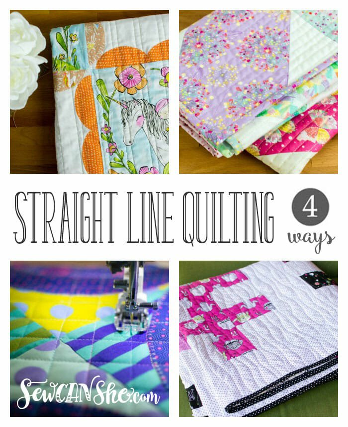 How To Do Easy Straight Line Quilting – 4 Ways!
