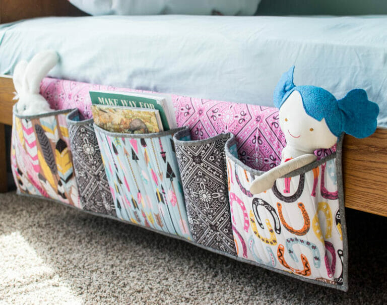 How to Sew Bedside Pockets Organizer – free sewing tutorial