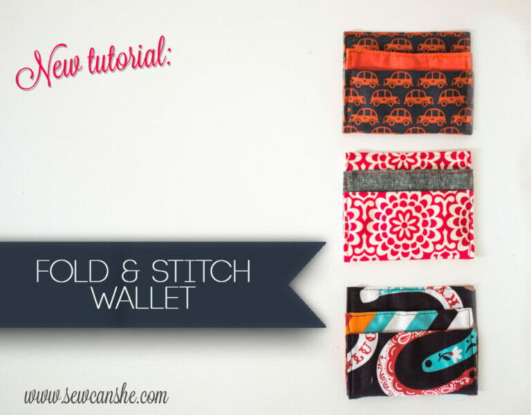 How to Sew a Fold and Stitch Wallet {free sewing tutorial}
