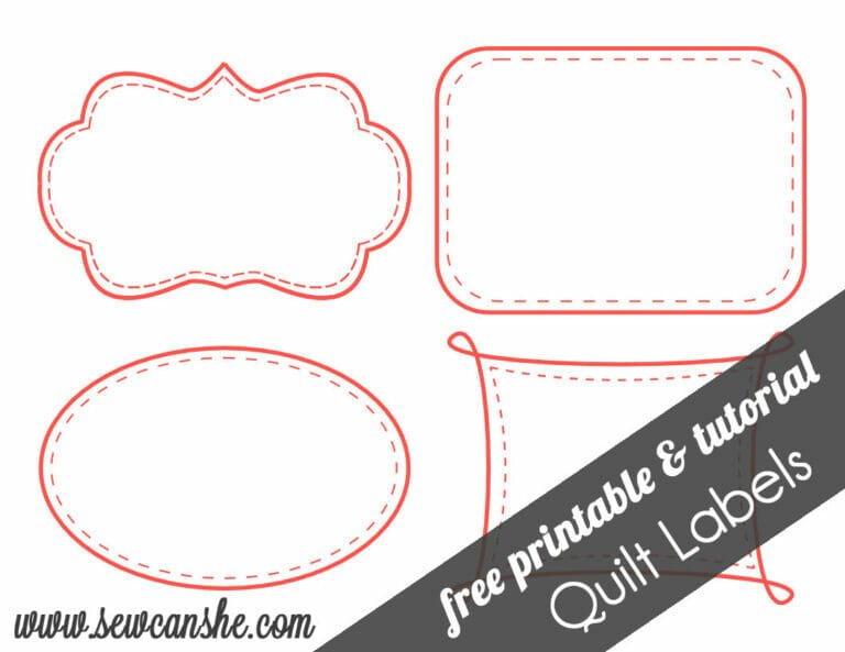 Quilt Labels! {free printable}
