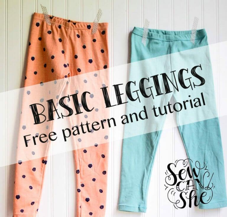 Basic Leggings for Girls – Free Pattern and Tutorial!