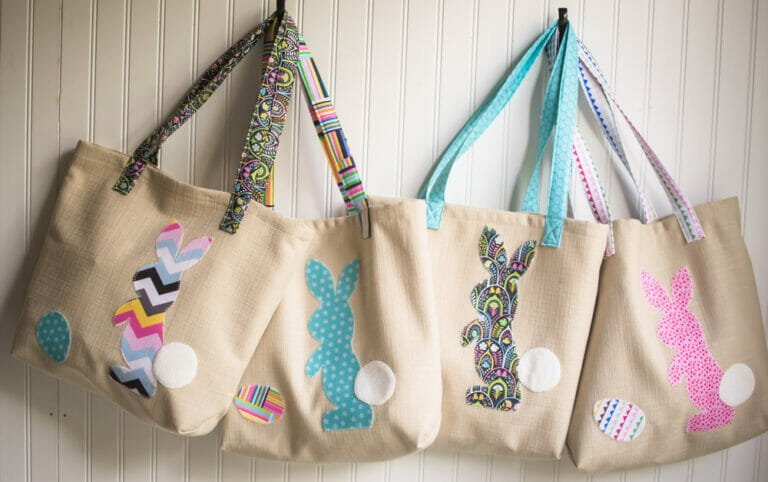 Free Bunny Applique and Tote Bag Pattern