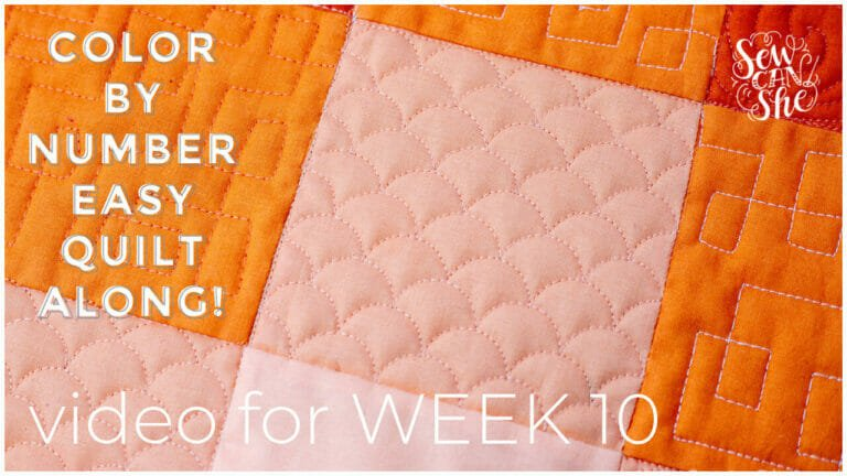 How to Quilt Easy Clamshells with a Ruler and Without – Color By Number Quiltalong Week 10