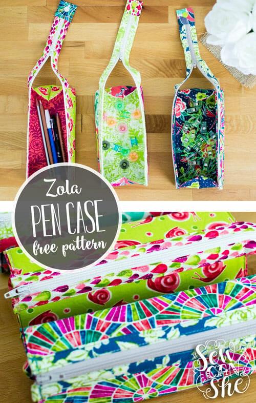 Zola Pen Case {free sewing pattern}