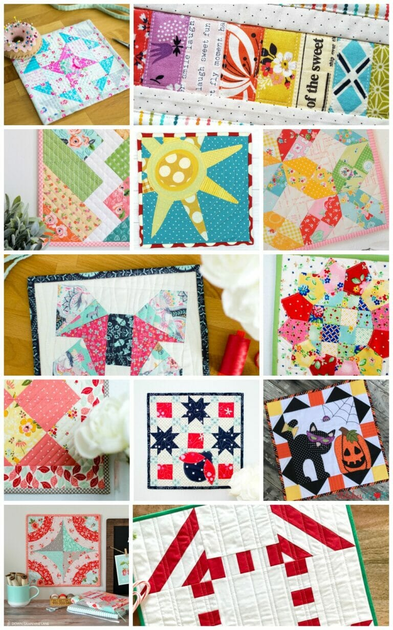 How to Sew Mini Quilts – 18 Free Patterns