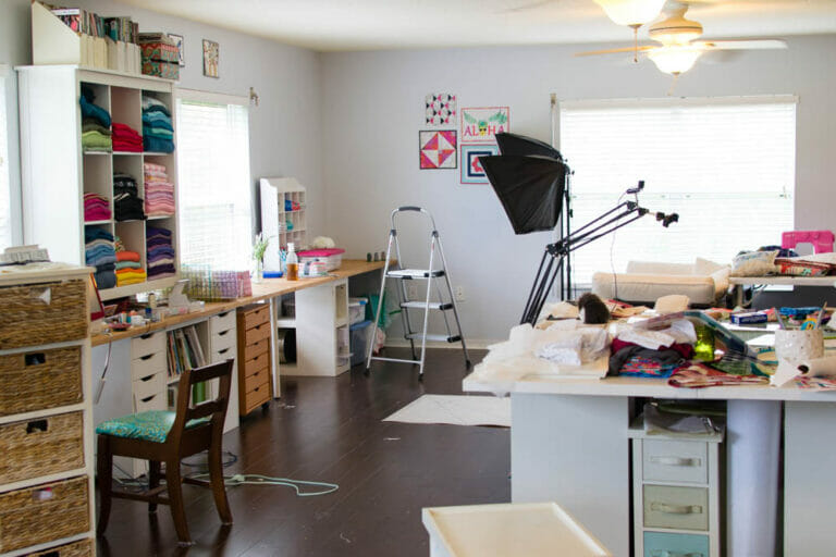 How my messy studio gives me sewing inspiration