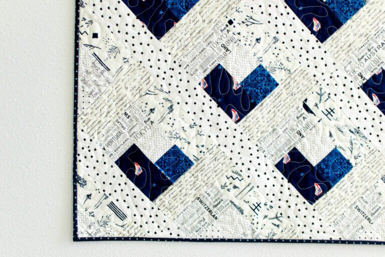 Baby Heart Log Cabin Quilt – Free Quilt Pattern