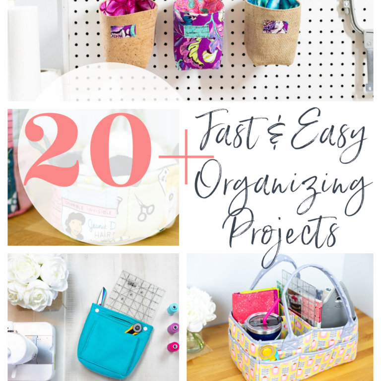 21 Sewing Projects to Organize your Sewing and Craft Supplies