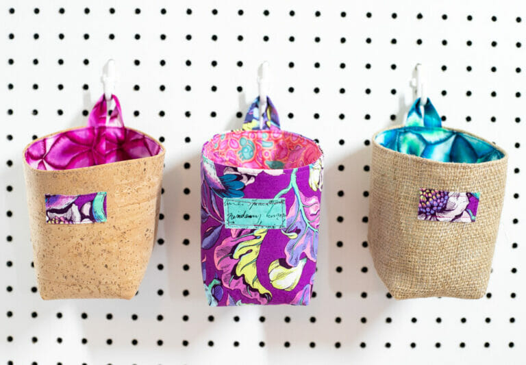 How to Sew a Cute Organizing Basket – Free Sewing Tutorial