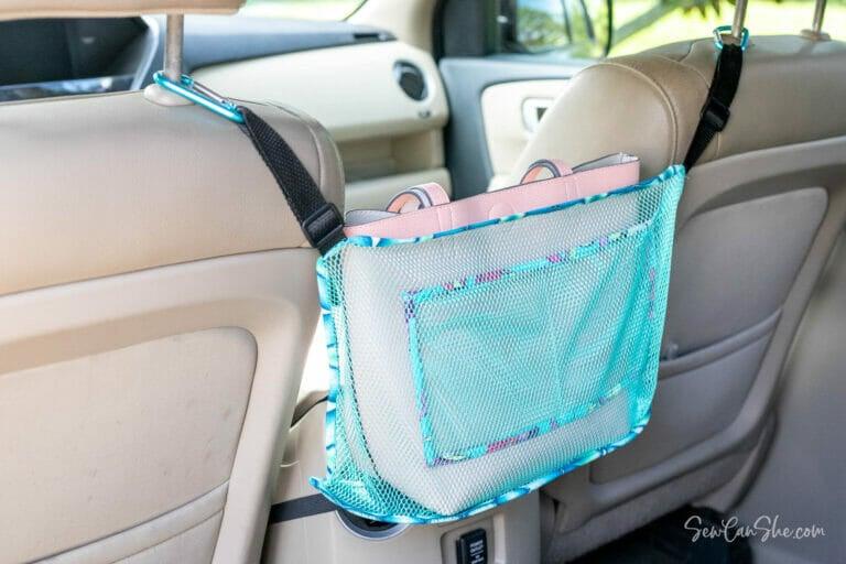 Sew a Mesh Car Organizer – free sewing pattern!