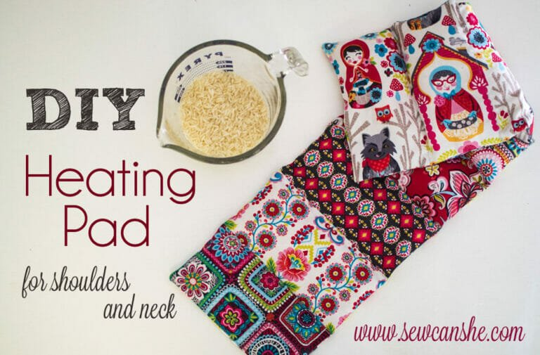 How to Make a DIY Heating Pad for shoulders and neck – Free Tutorial