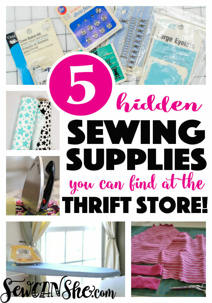 5 Hidden Sewing Supplies You Can Find at the Thrift Store