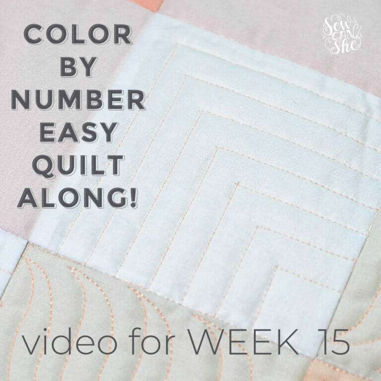 How to Quilt an Echoed Square Free Motion Quilting Design – Color By Number Quiltalong