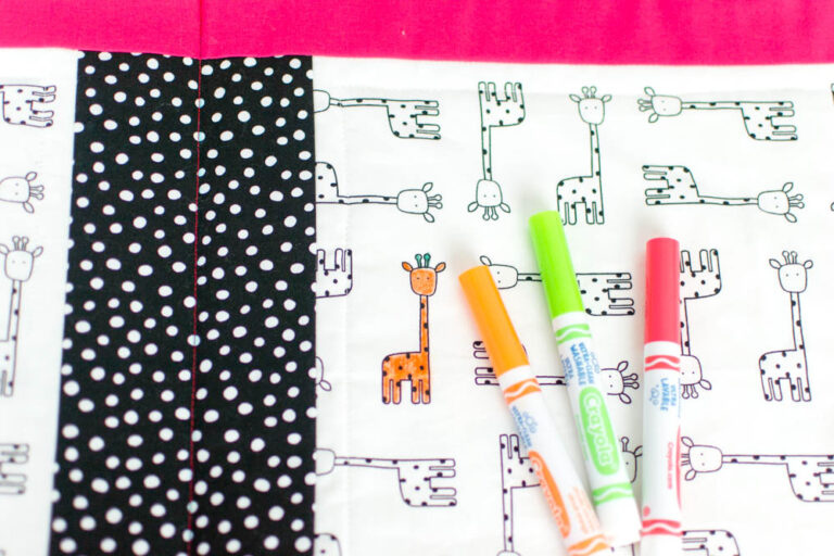 How to Sew a Washable Coloring Book – Free Pattern