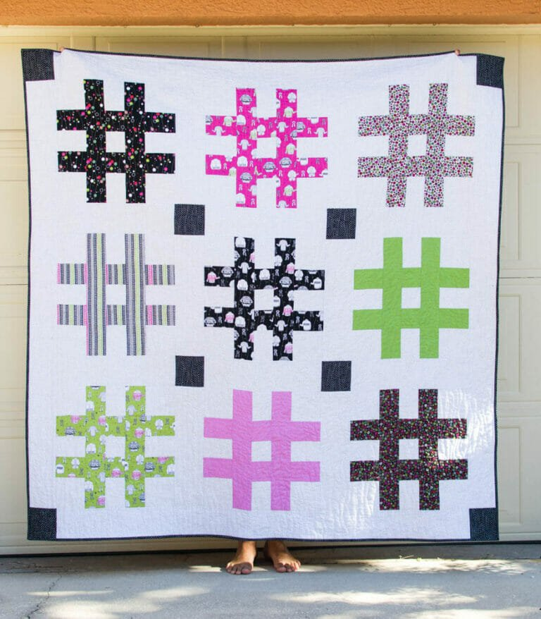 The Jumbo Hashtag Quilt {free pattern!}