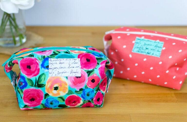 Cute Corners DIY Cosmetic Case {free sewing pattern}