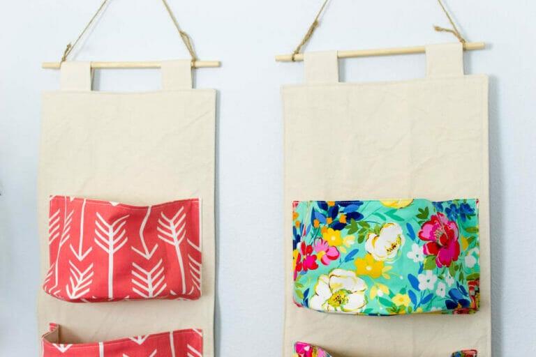 DIY Hanging Organizer – Free Sewing Pattern