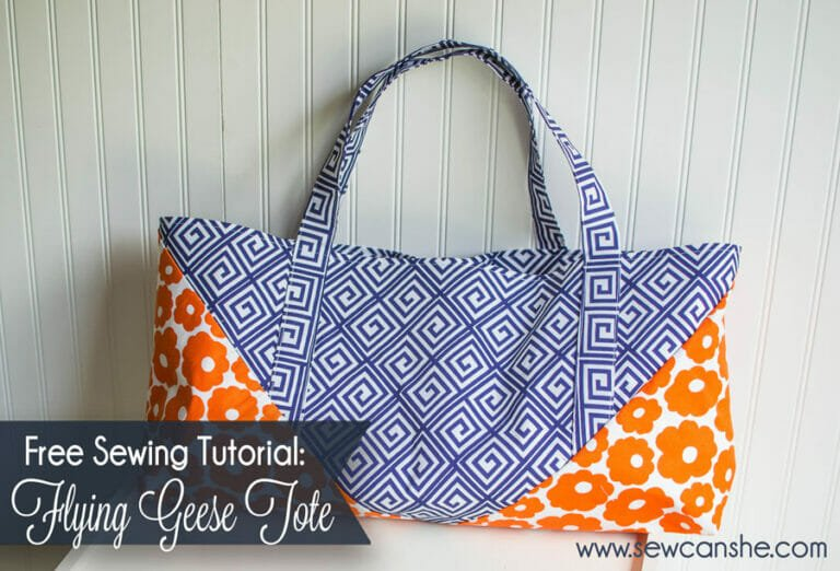 The Flying Geese Tote… a modern bag tutorial