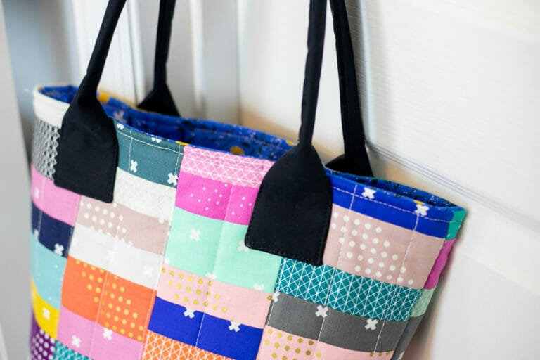 The Scrapyard Tote – free sewing pattern