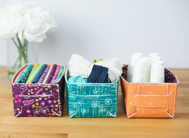 How to Sew Mini Baskets – that fold together!