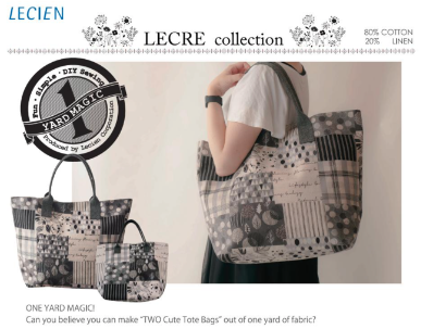 How to Make 1 Yard Magic Lecre Bags from Lecien!