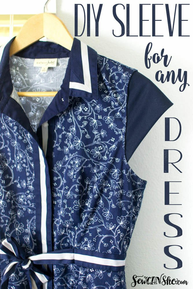 Add a DIY Sleeve to Any Dress! {free sewing tutorial}