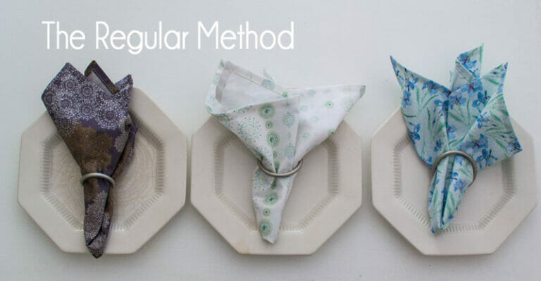 How to Sew Cloth Napkins – the regular method and the speed method