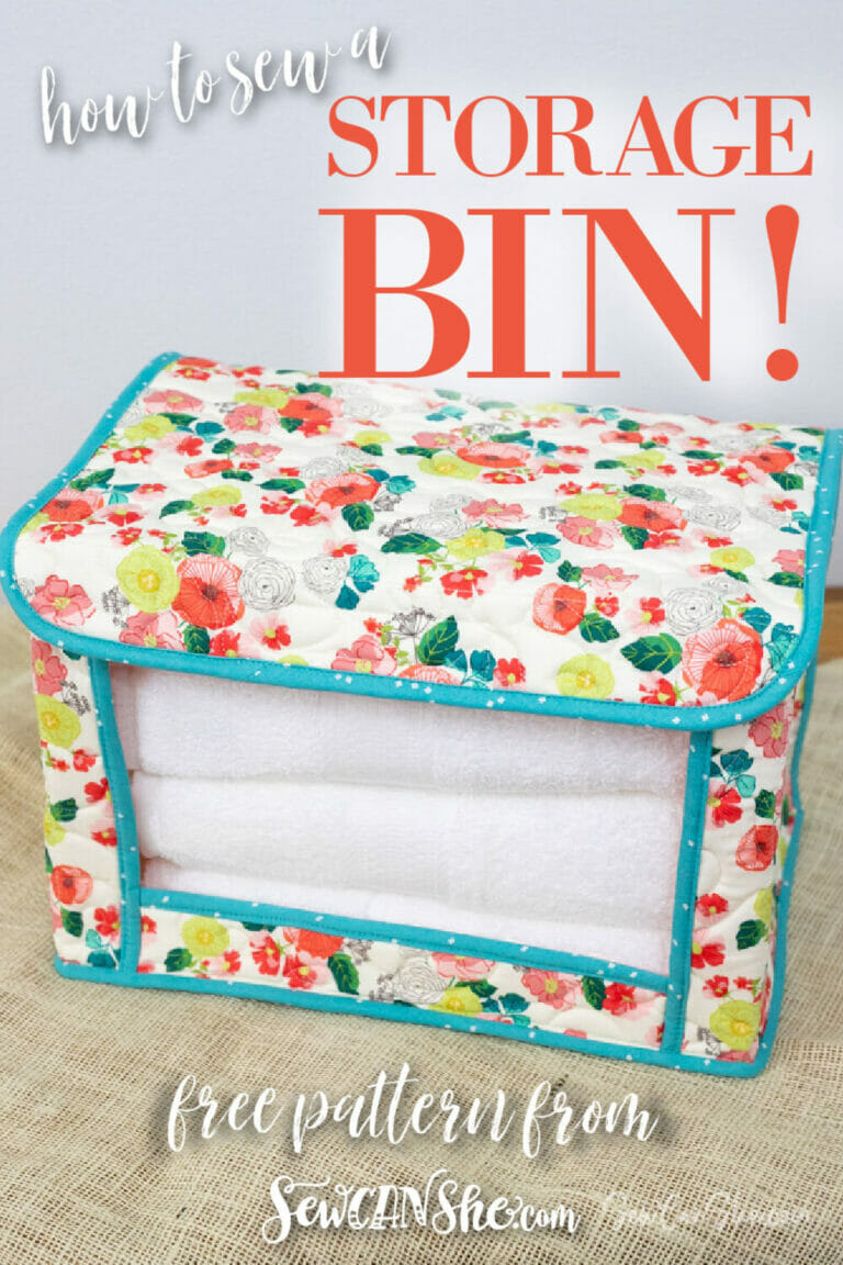 How to Sew a Fabric Storage Bin – free sewing pattern!
