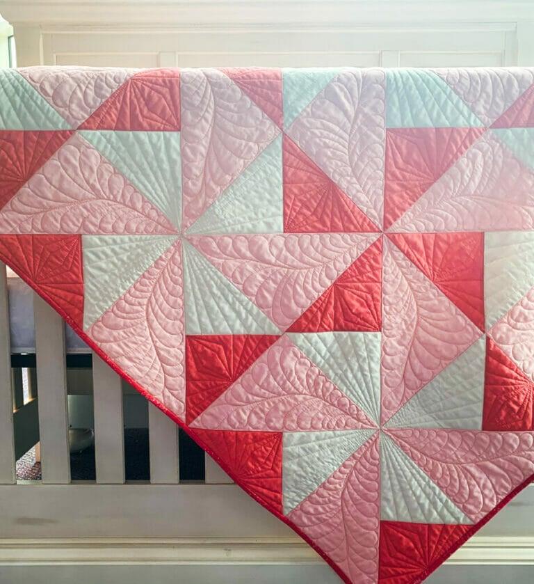 Pinwheel Daydreams Baby Quilt Pattern (free pinwheel quilt pattern)
