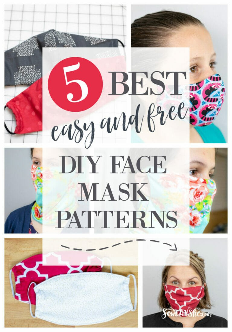 The 5 Best Easy and Free Fabric Face Mask Patterns including the Olson Mask Pattern