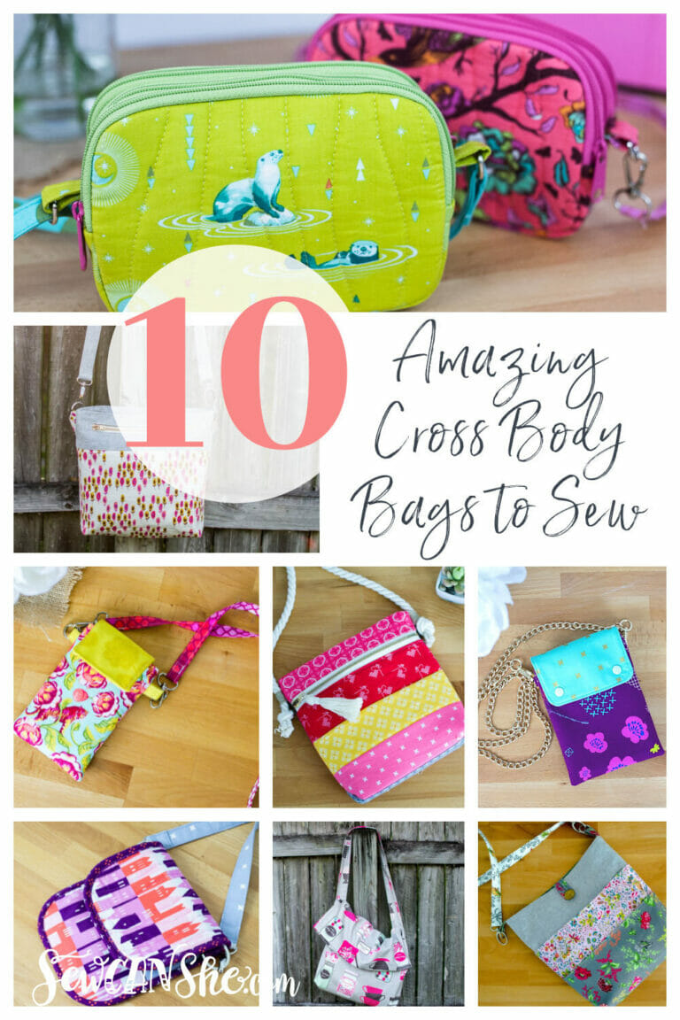 10 Amazing Cross Body Bag Patterns to Sew Right Now!