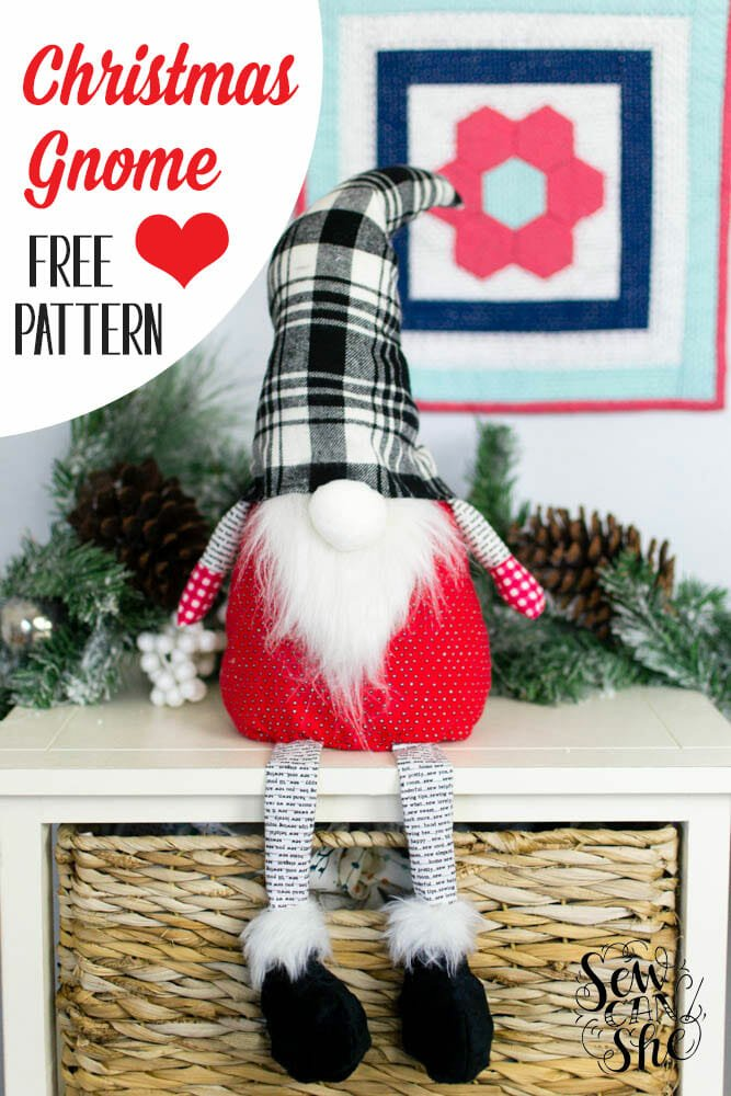 Christmas Gnome – free sewing pattern