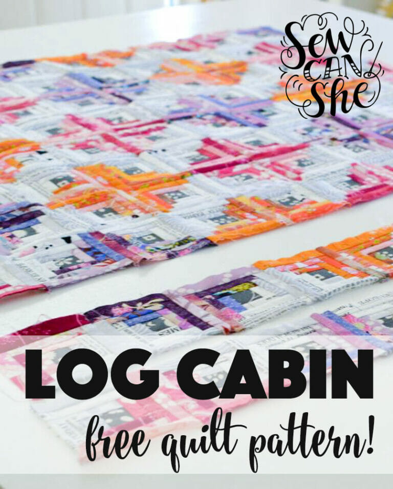 Bust your stash with this Log Cabin Quilt Pattern!