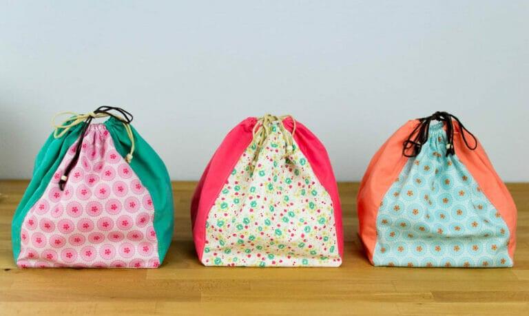 Simple Drawstring Bag – Free Sewing Pattern and Tutorial