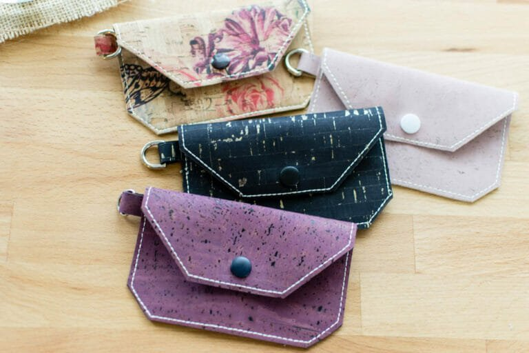 DIY Cork Fabric Card Wallet – fast and easy sewing tutorial