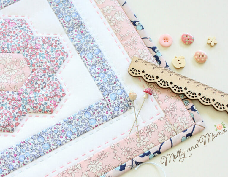 Monthly Mini Quilt for January 2018 – Flora!