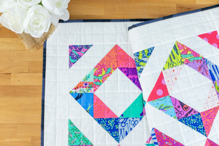 Child's Play Free Quilt Pattern – Easy Baby Quilt with Half Square Triangles
