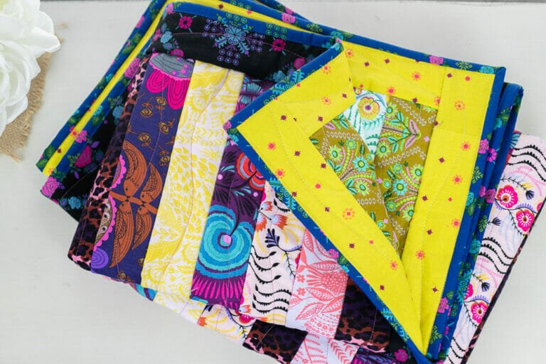 Quilt As You Go (QAYG) Strip Quilt! free sewing tutorial with videos