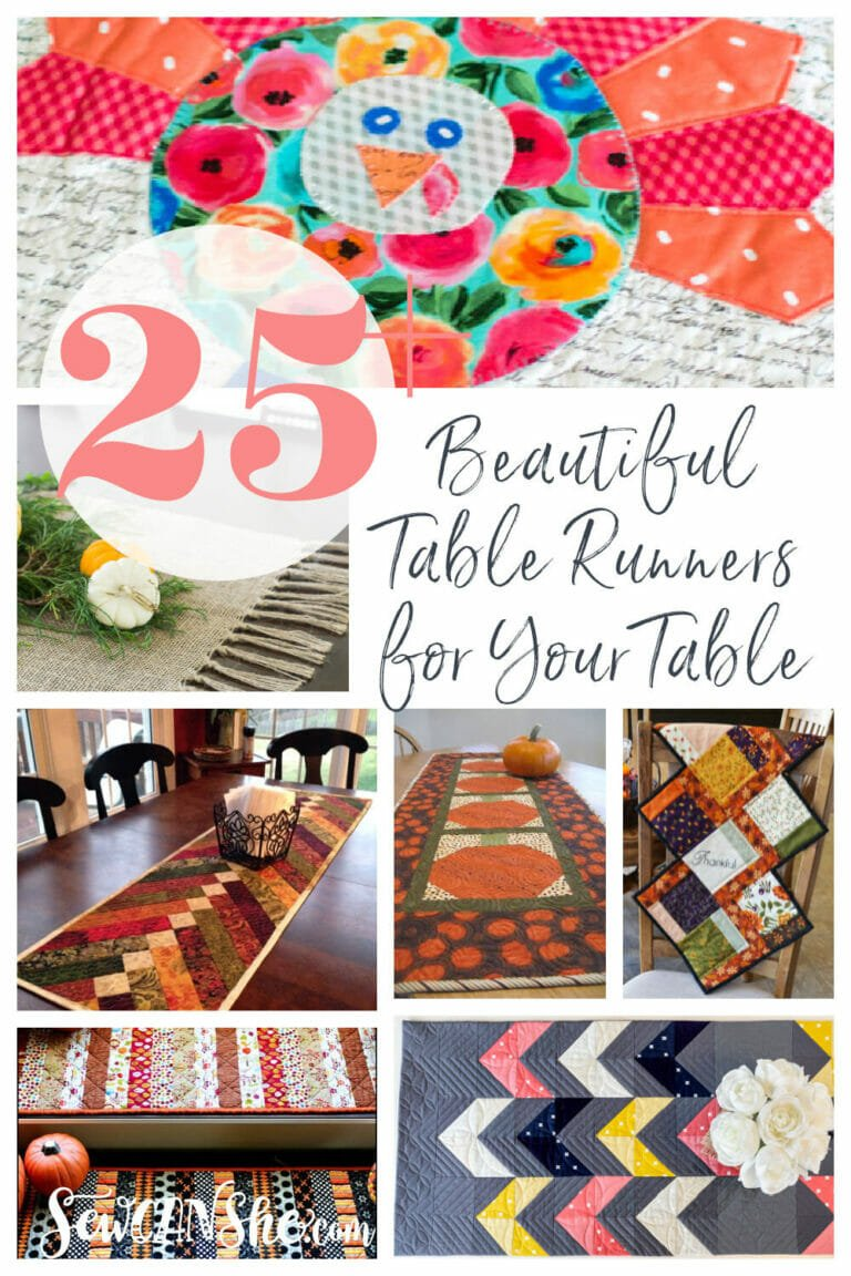 25+ Beautiful Table Runner Patterns – All Free