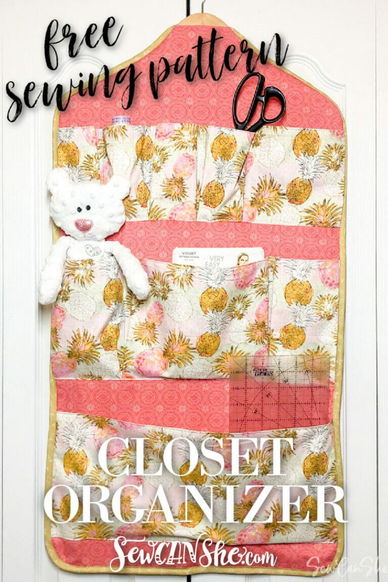 Closet Organizer Sewing Pattern with lots of pockets – Free