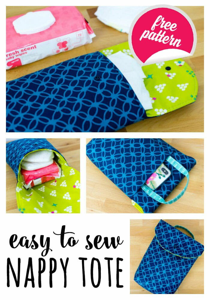 DIY Easy to Sew Snappy Tote (or FQ friendly Diaper Clutch!)