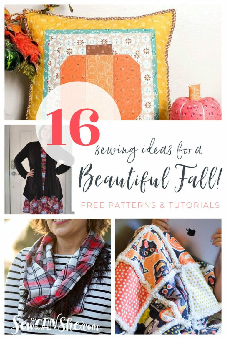 16 Fabulous Sewing Ideas for Fall – free sewing patterns and tutorials