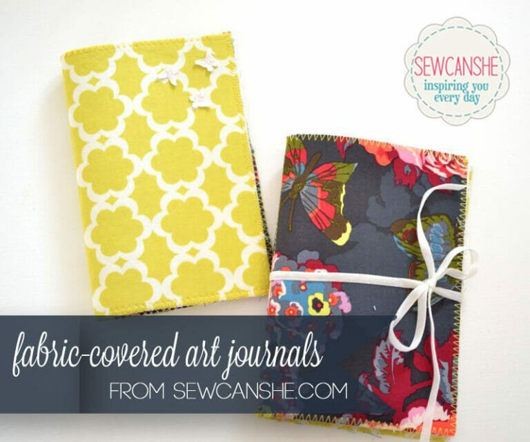 How to Sew Fabric Covered Art Journals {or sketchbooks}