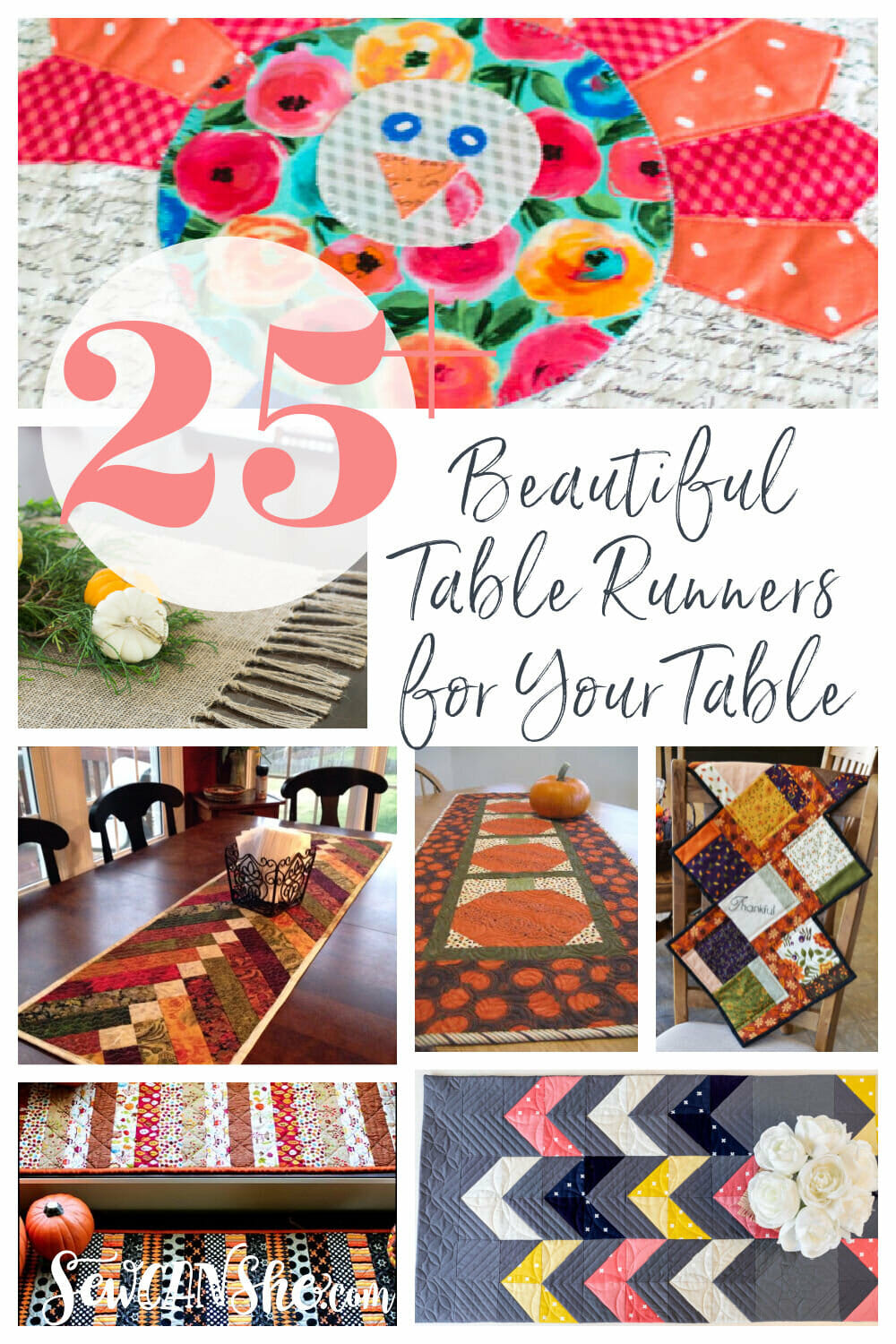 25+ Beautiful Table Runners for Your Table - All Free