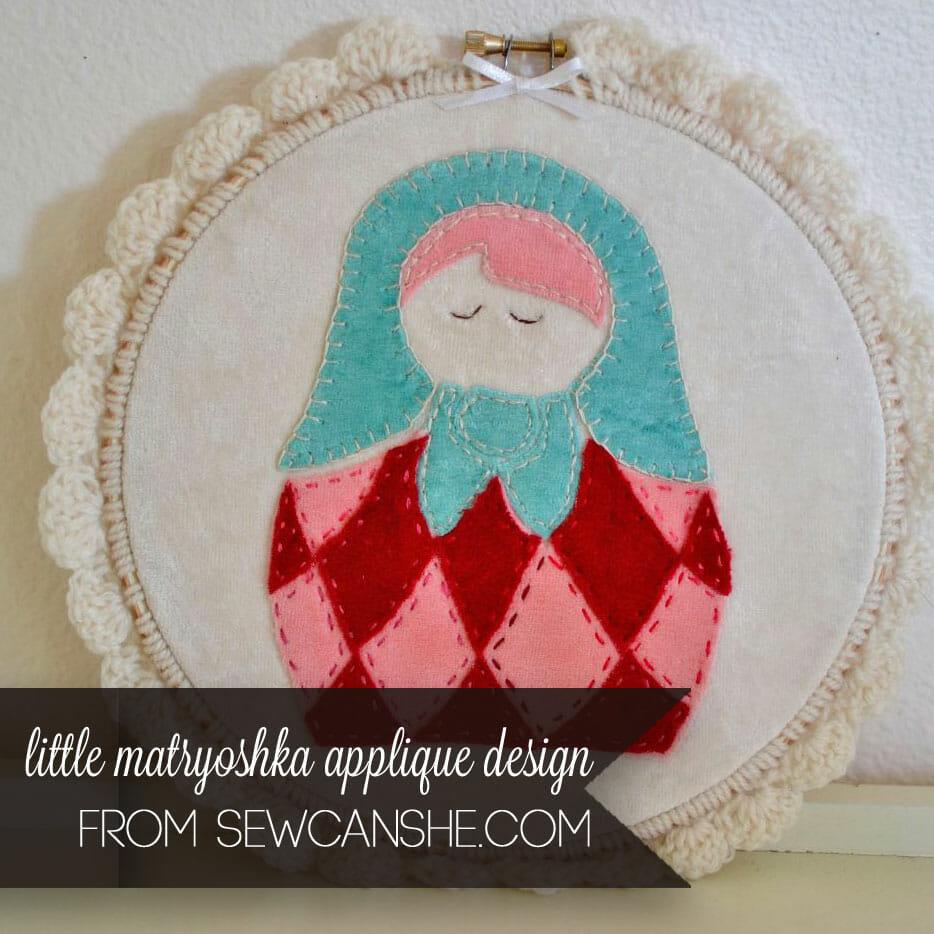 Little Matryoshka Free Applique Design