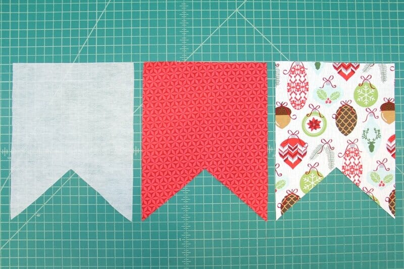 2. Flags cut from fabric and interfacing.JPG